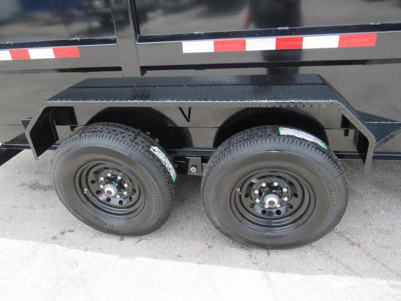 2020 PJ Trailers 7X16 with 4ft Sides Dump Trailer