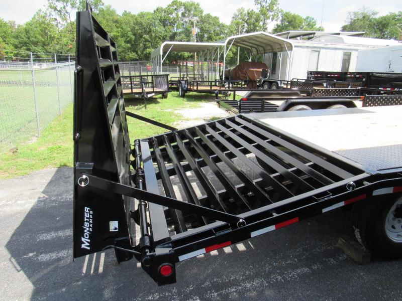 2020 PJ Trailers 20' Deckover with Monster Ramps Equipment Trailer
