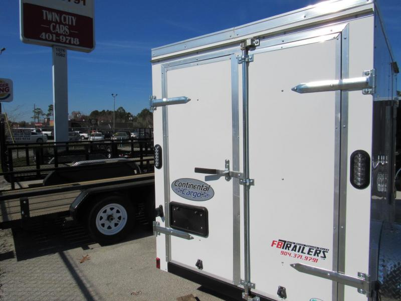 2021 Continental Cargo 5X8 Rear Double Doors Enclosed Cargo Trailer