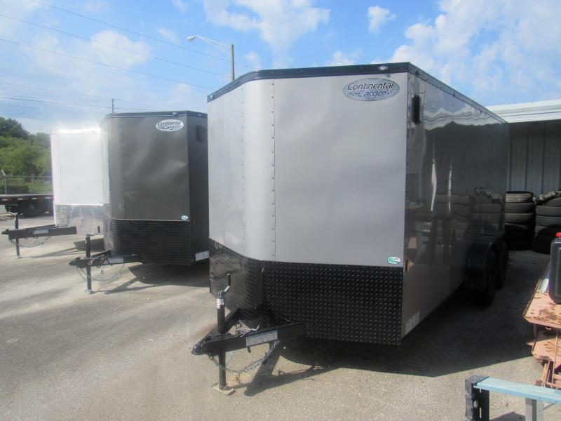 2021 Continental Cargo 7X16 Black Out Enclosed Cargo Trailer