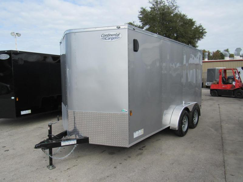 2020 Continental Cargo 7X14 Tandem Enclosed Cargo Trailer