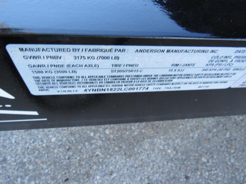 2020 Anderson Manufacturing 18ft Open Car Hauler Car / Racing Trailer