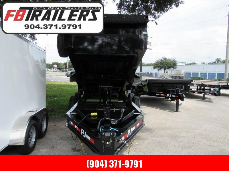 2021 PJ Trailers 16ft with 3ft sides 10K axles Dump Trailer