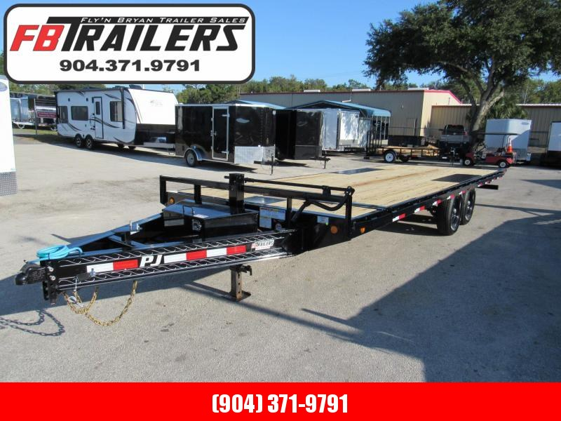 2021 PJ Trailers 24ft Deckover Tilt Equipment Trailer