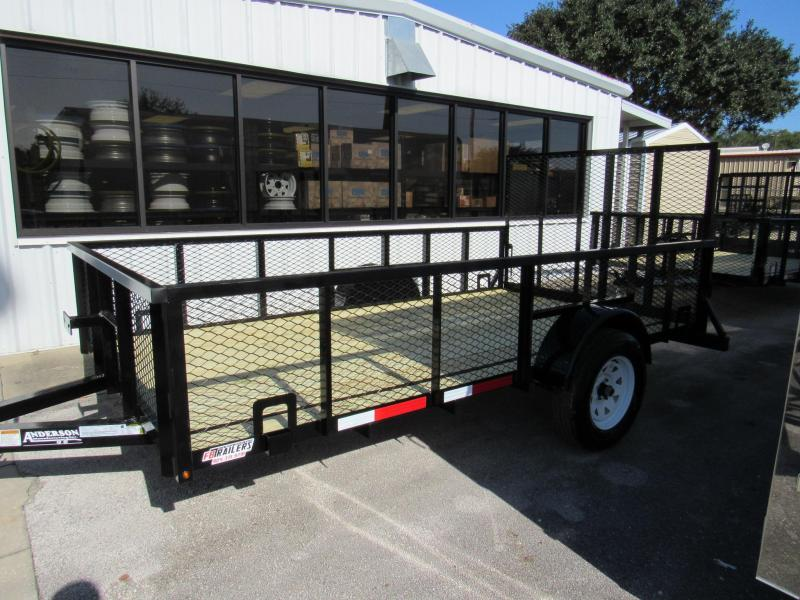 2020 Anderson Manufacturing 6X12 with 2ft Mesh Utility Trailer