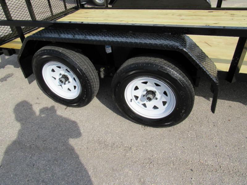 2020 Anderson Manufacturing 7X14 Tandem Axle Utility Trailer