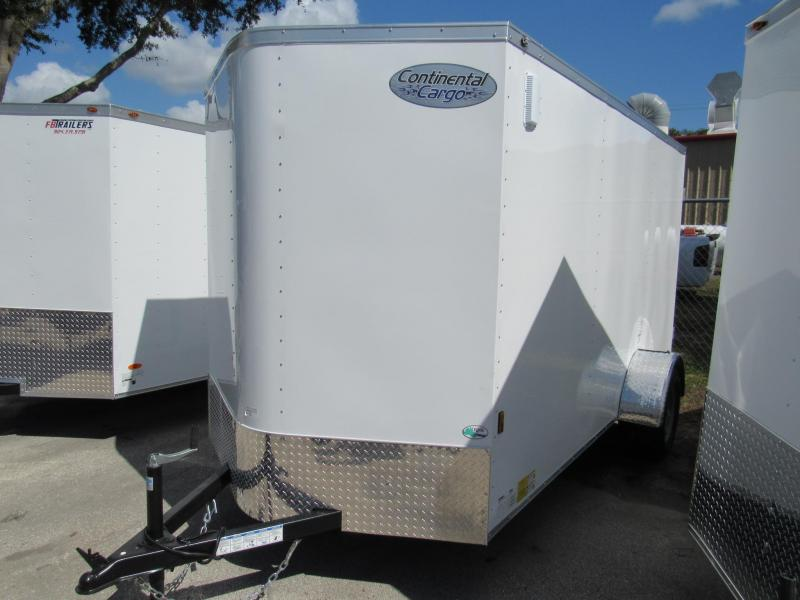 2021 Continental Cargo 6X12 with Rear Double Doors Enclosed Cargo Trailer