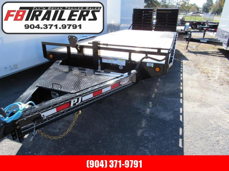 2021 PJ Trailers 20ft Deckover F8 Equipment Trailer