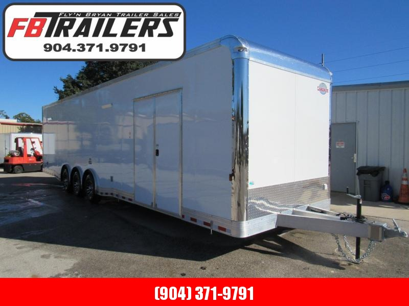 2021 Cargo Mate 34ft Aluminum Frame Eliminator Car / Racing Trailer
