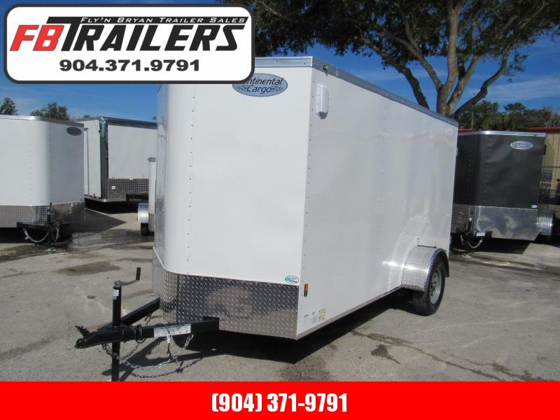 2021 Continental Cargo 6X12 Double Door Enclosed Cargo Trailer