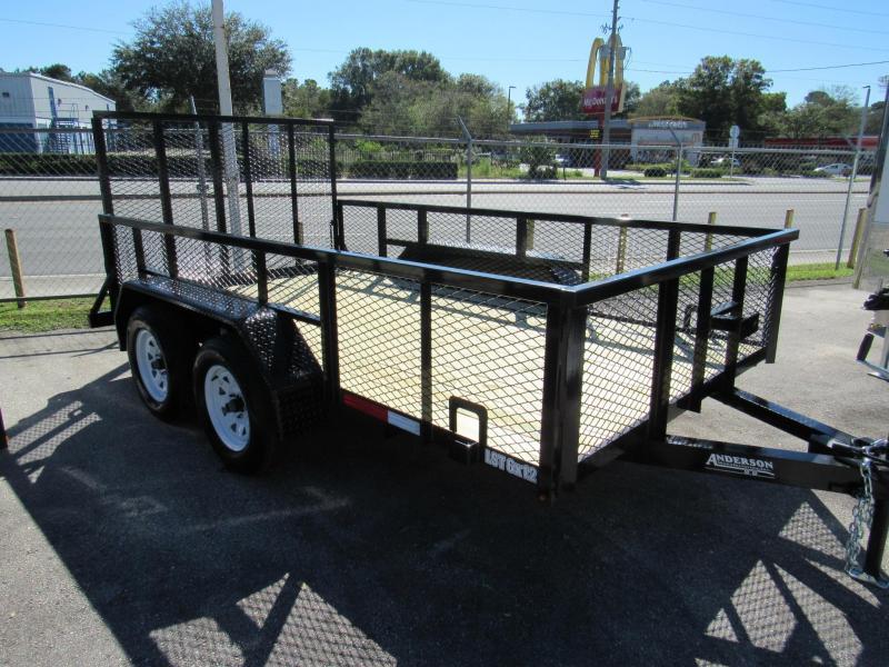 2021 Anderson Manufacturing 6X12 with 2Ft Mesh Sides Utility Trailer