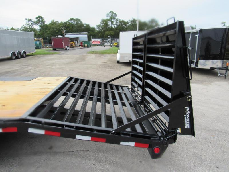 2021 PJ Trailers 24ft Deckover with 8K Axles Equipment Trailer
