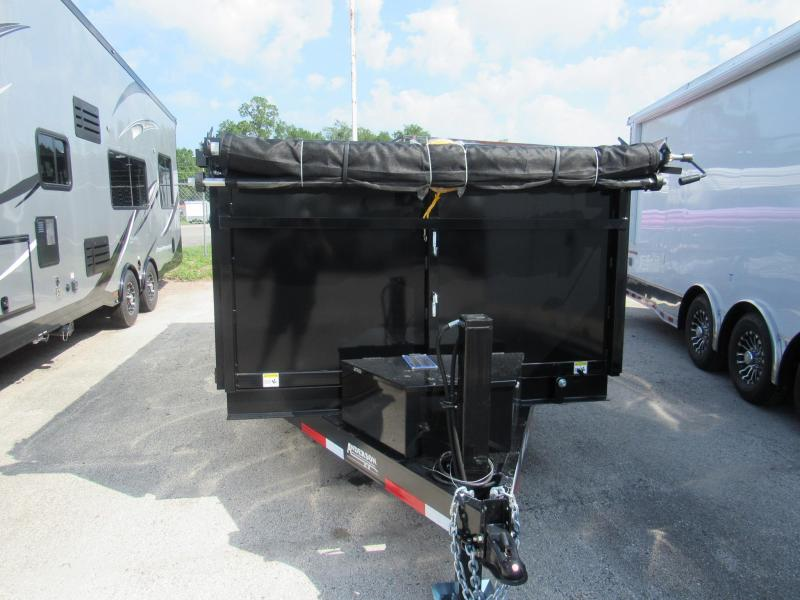 2020 Anderson Manufacturing 7X14 4ft High Side Hydraulic Jack Dump Trailer