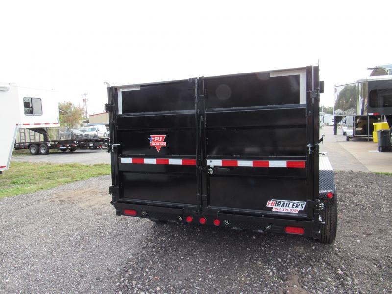 2021 PJ Trailers 7X14 with 4ft High Side Dump Trailer
