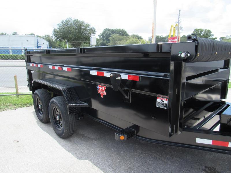 2021 PJ Trailers 7X14 with 3Ft Sides Dump Trailer