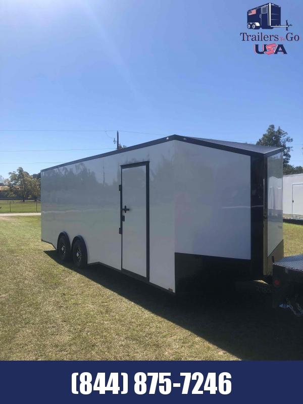 2021 Spartan Cargo 8.5x24 White with B/O package Spartan trailer Enclosed Cargo Trailer