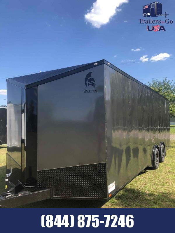2021 Spartan Cargo 8.5x24 Charcoal with B/O package Spartan trailer Enclosed Cargo Trailer