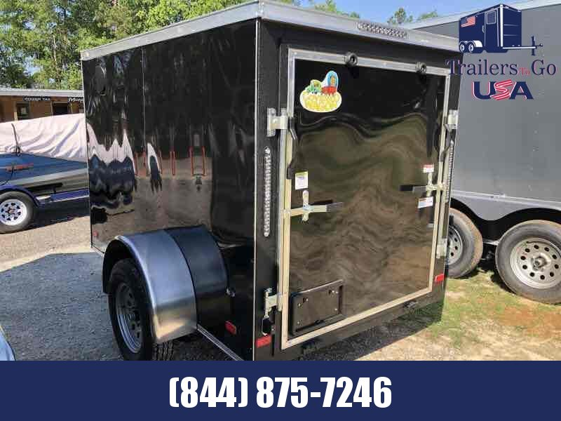 2021 Covered Wagon Trailers 5x8SA Black Covered Wagon Enclosed Cargo Trailer