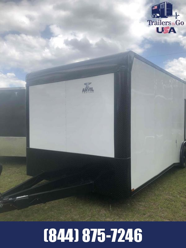 2021 Anvil 8.5x24 white with B/O package Anvil Enclosed Cargo Trailer