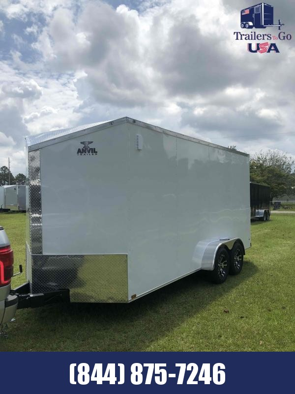 2021  7x16TA White Anvil  Enclosed Cargo Trailer
