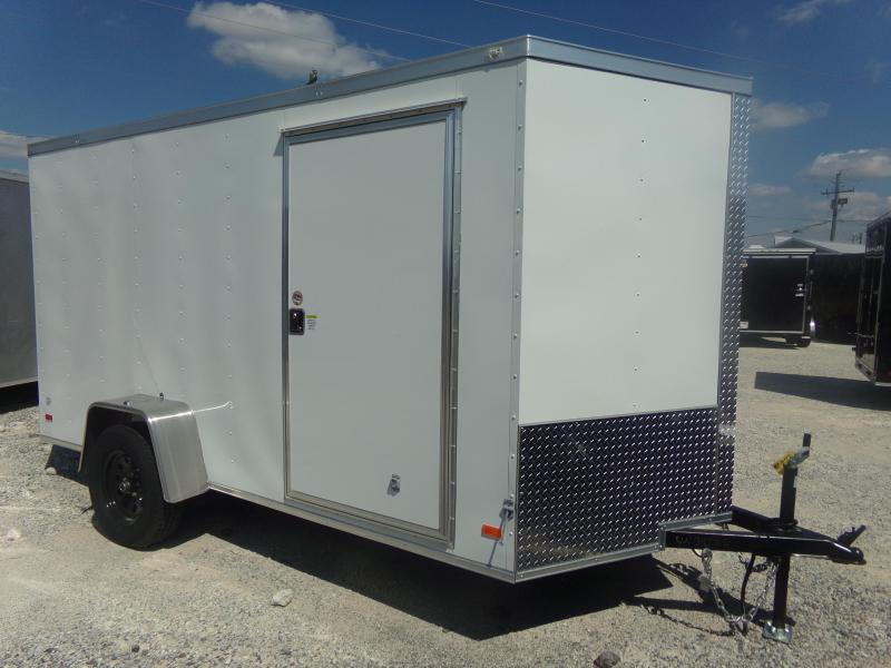 2020 Covered Wagon Trailers 6X12SA FREE 1-PEICE ROOF LEDS AND RADIALS Enclosed Cargo Trailer