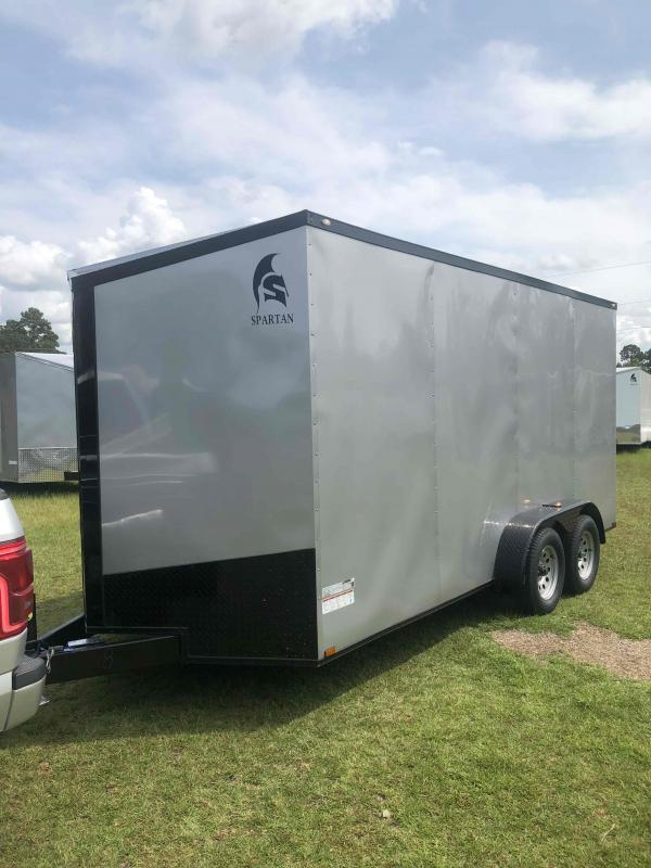 2021 Spartan Silver Frost with Blackout Package Enclosed Cargo Trailer