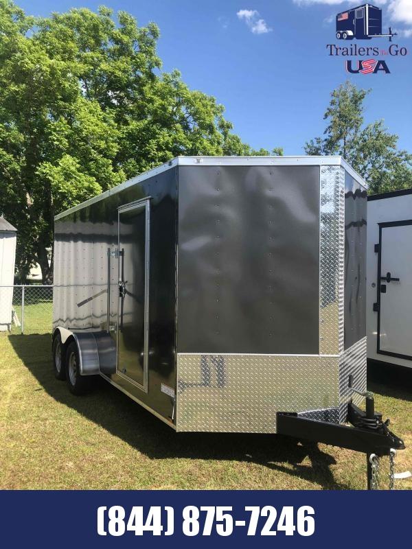 2021 Anvil 7X16 TA Charcoal Anvil Trailer Enclosed Cargo Trailer