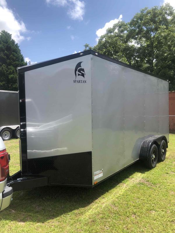 2021 Spartan Cargo 7x16TA Silver With Blackout Pkg Enclosed Cargo Trailer