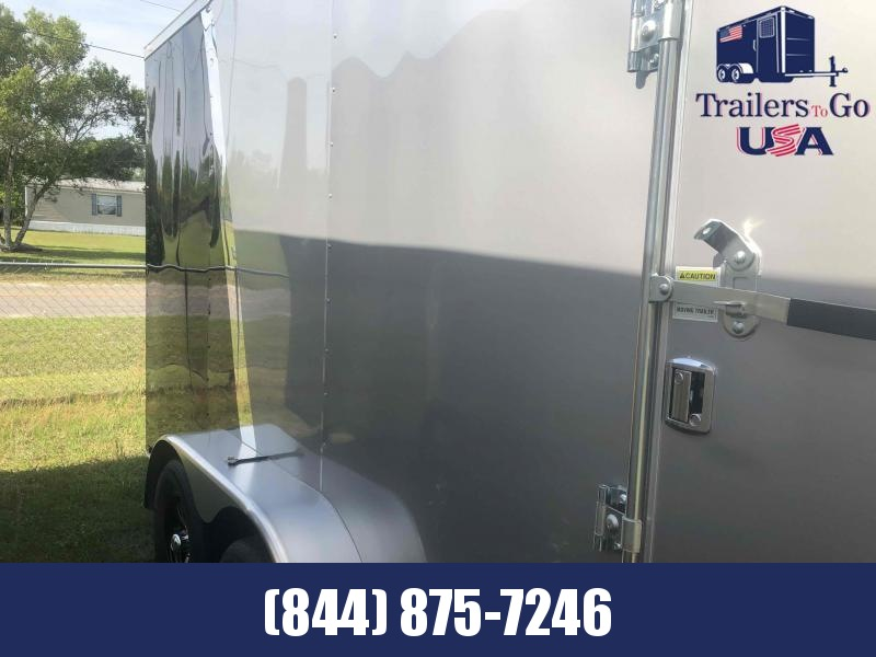 2021 Spartan Cargo 7x16 TA Silver front Black rear Enclosed Cargo Trailer