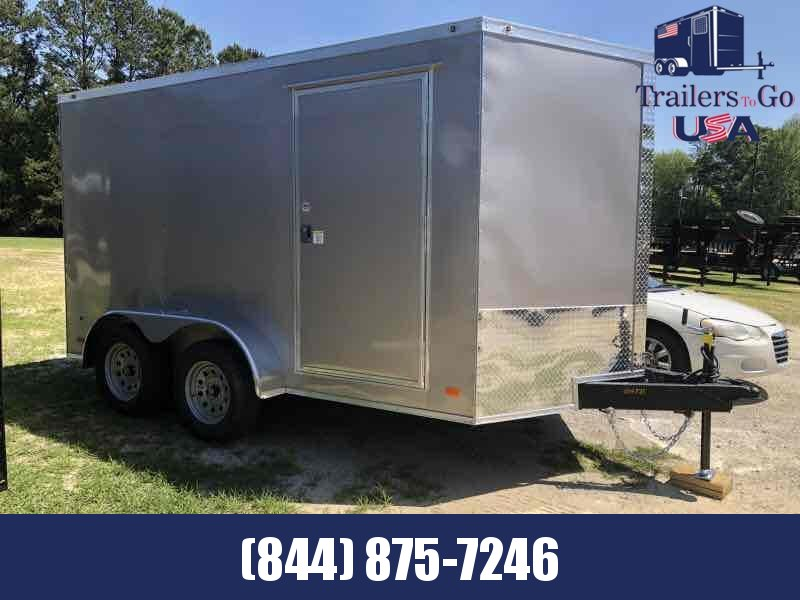 2021 Covered Wagon Trailers 7x12TA silver covered wagon tailer Enclosed Cargo Trailer