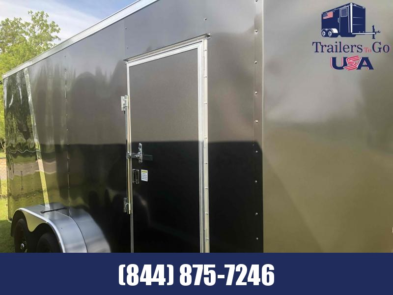 2021 Spartan Cargo 7x16TA Charcoal/Black Enclosed Cargo Trailer