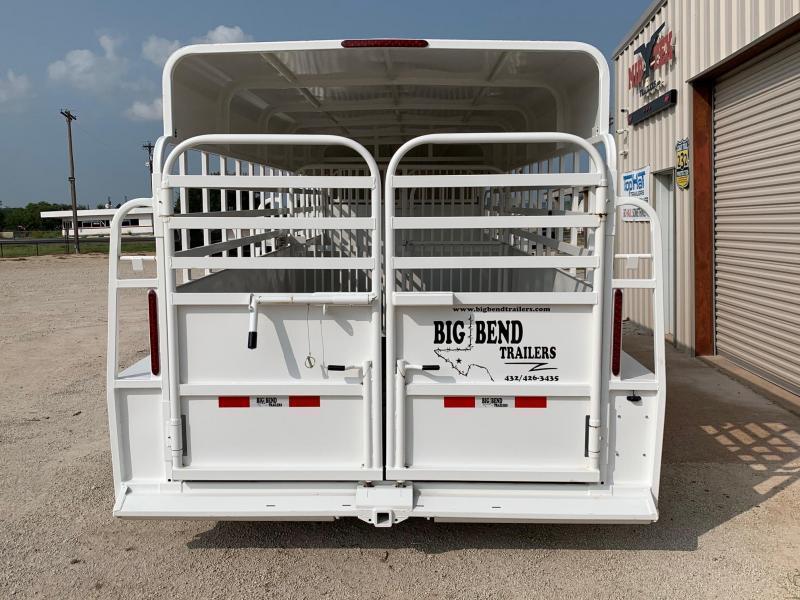 "2021 Big Bend 20' X 6'8"" Full Top Gooseneck Livestock Trailer"