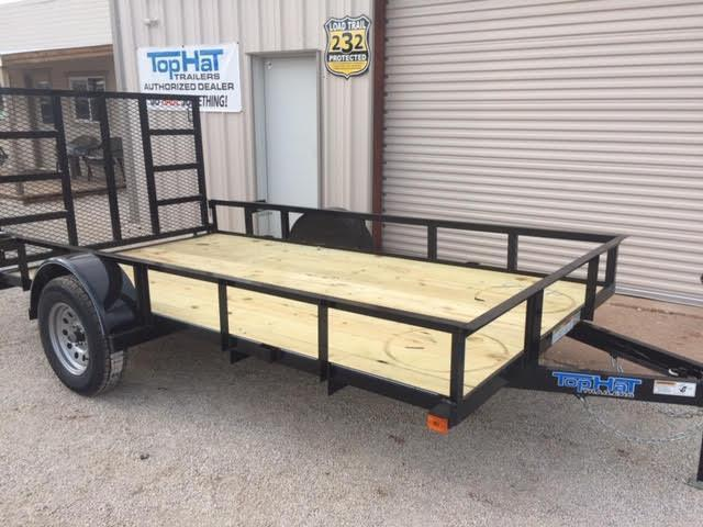 2021 Top Hat Trailers DSA77x12 Utility Trailer