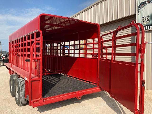 "2021 Big Bend 16' X 6'8"" Full Top Gooseneck Livestock Trailer"