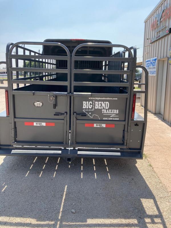 2021 Big Bend 16' Half Top Gooseneck Livestock Trailer
