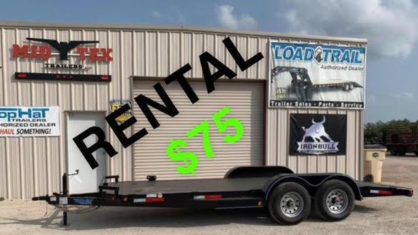 2021 Top Hat Trailers ASCH HD 83x18 Rental Car Trailer