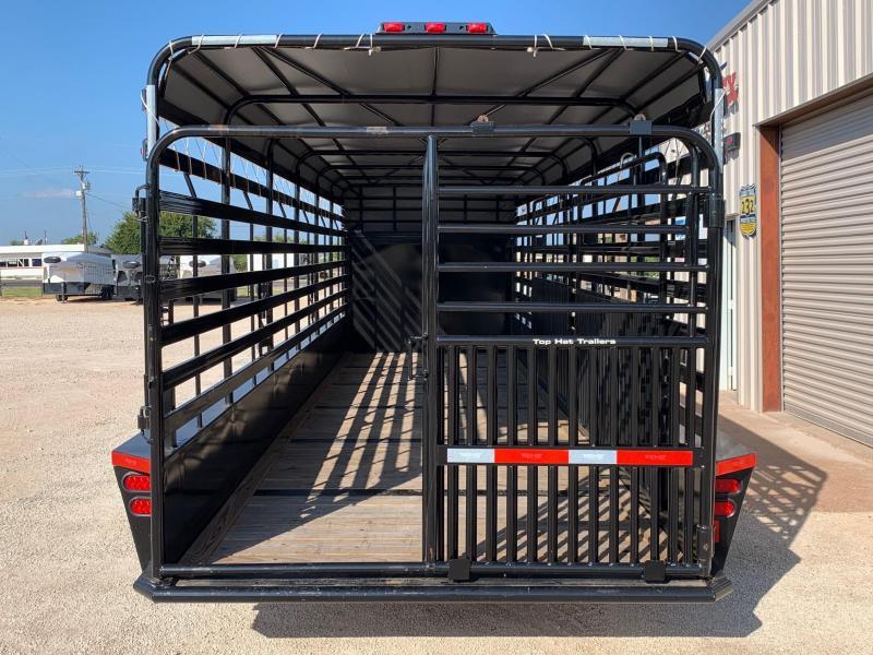 2020 Top Hat Trailers BGN 6.8x24 Livestock Trailer