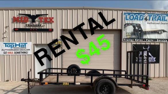 2013 Big Tex Trailers 77x12 Rental Utility Trailer