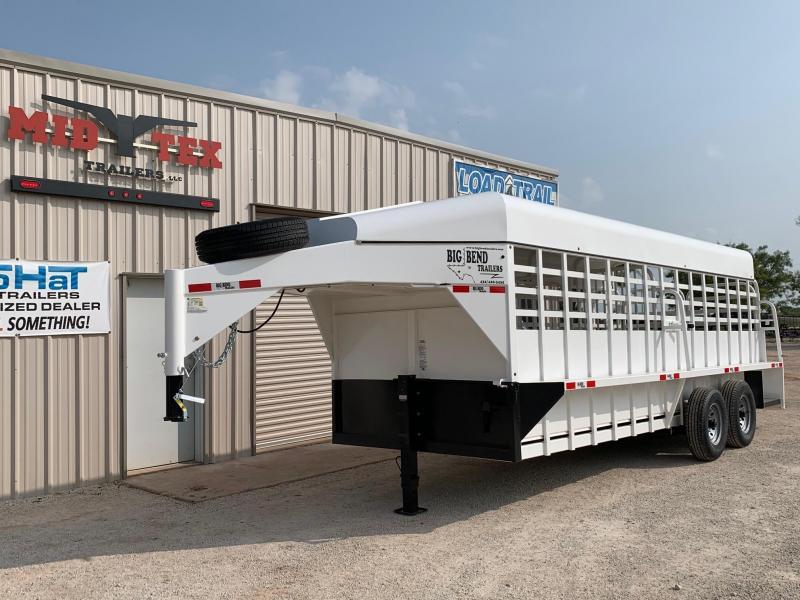 2020 Big Bend GN 6.8x20 Livestock Trailer