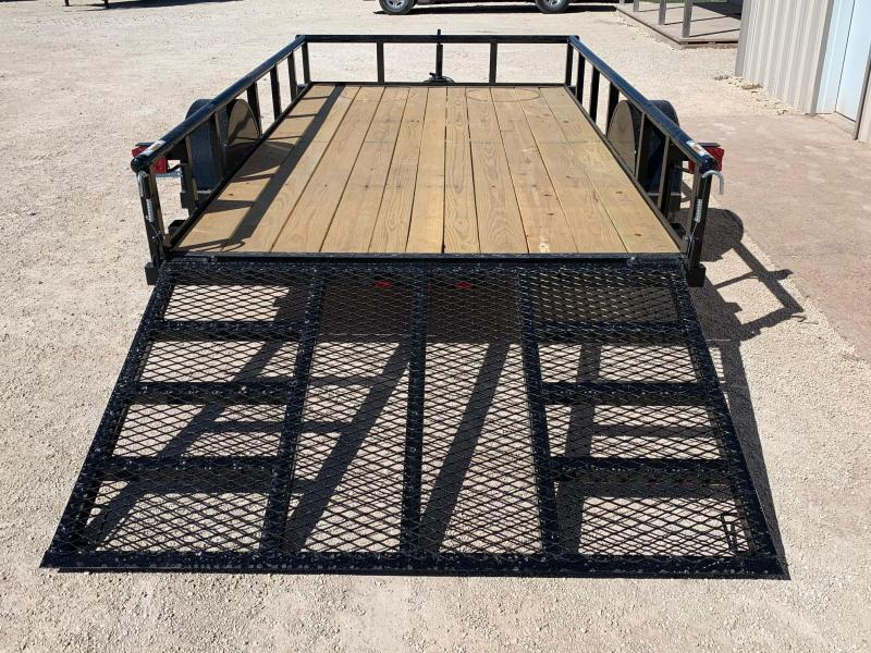 """2022 Top Hat Trailers DSP 77""""x12' Utility Trailer"""