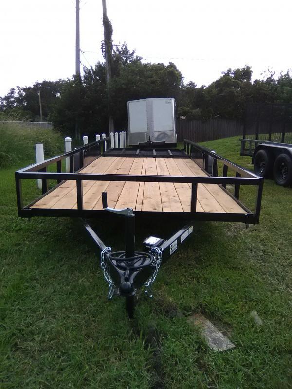 "2021 Rhino Trailers 6'4""x18' TA Utility Trailer"