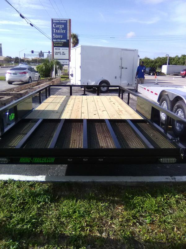 2021 Rhino Trailers 7'X14'SINGLEAXLE Utility Trailer