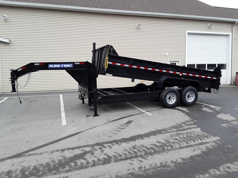 Sure-Trac 82 IN x 16 HD Low Profile Gooseneck Dump
