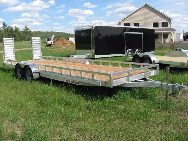 Sport Haven 7 x 22 Heavy Duty Aluminum Trailer