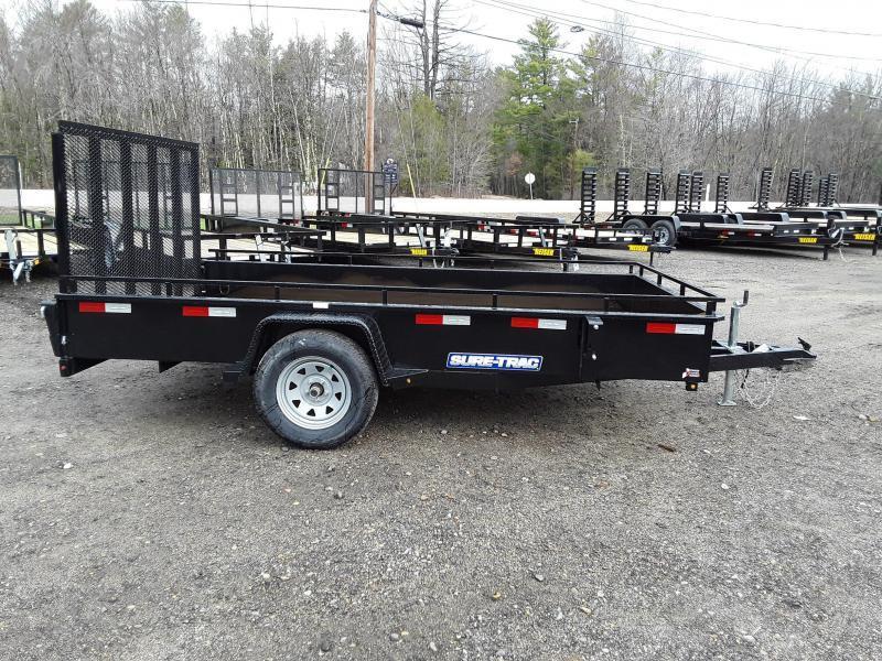 Sure-Trac 7 x 12 Steel High Side Trailer  3K Idler