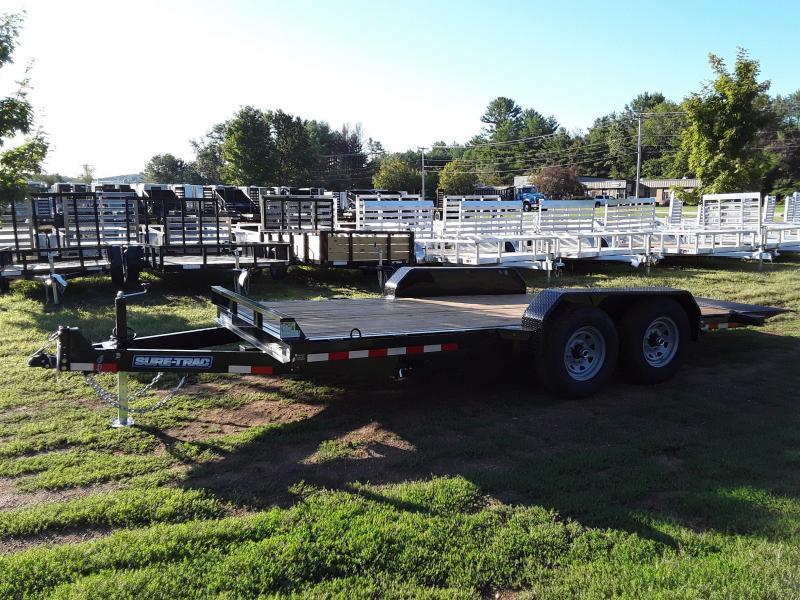 Sure-Trac 7 x 18 Tilt Bed Equipment Trailer  14K