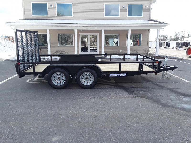 Sure-Trac 7 x 14 Tube Top Utility Trailer  7k Tand