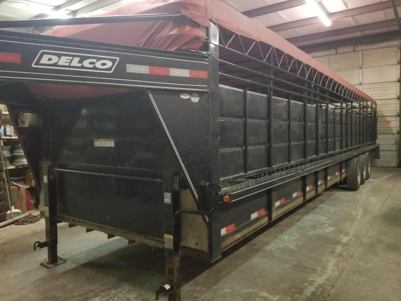 2018 Delco Trailers Bar Top Livestock Livestock Trailer