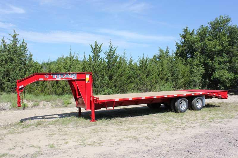 2019 Titan Trailer Tandem Dually Flatbed
