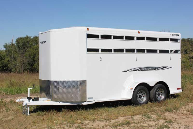 2019 Titan Trailers Avalanche Bumper Hitch Horse Trailer